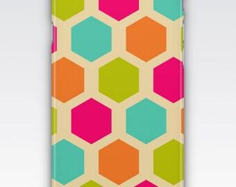 Case for iPhone 8, iPhone 6s,  iPhone 6 Plus,  iPhone 5s,  iPhone SE,  iPhone 5c,  iPhone 7,  Multicoloured Hexagon Patterned