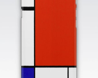 Case for iPhone 8, iPhone 6,  iPhone 6s,  iPhone 5s,  iPhone SE,  iPhone 5c,  iPhone 7  -Composition II Red Blue & Yellow by Mondrian