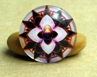 10pcs Colorful Kaleidoscope Handmade Glass Photo Cabochons, 8mm - 30mm, Handcraft Accessories 0045-9