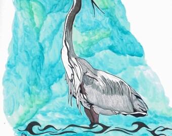 Great Blue Heron Artwork
