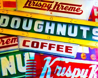 Krispy Kreme collage photograph
