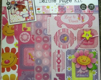 Colorbok Deluxe Scrapbook Page Kit Four Princess 172 Pieces 12x12