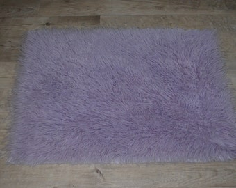 "RTS Lilac Real Wool Flokati 36""x24"" Rug, Photography Prop, Newborn Photography, Ready to Ship, Wool"