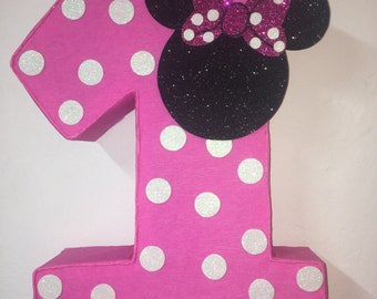 First birthday Minnie mouse pinata pink. Minnie mouse pinata. Minnie mouse birthday party. Minnie mouse red. Minnie mouse decoration.