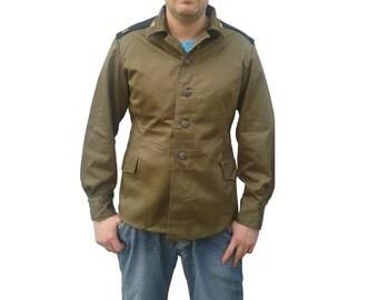 Vintage  USSR CCCP soviet field combat jacket hebe M69 army military  Russian coat fieldshirt shirt communist