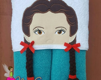Dorothy Inspired Hooded Towel, Wizard of Oz, Oz Inspired