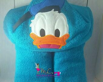 Quacky Duck Hooded Towels, Beach Towel, Donald Duck Towel