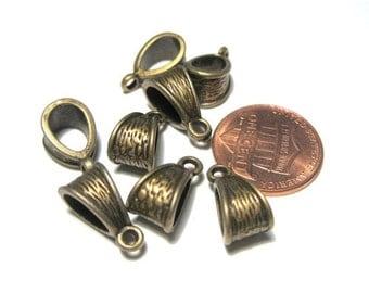 50% OFF Clearance Sale 10pcs Antique Bronze Bails 14x7mm Necklace Bail Metal Pendant Bail