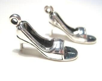 10pcs Antique Silver Shoe Charms Pendants 24mm Craft  Supplies