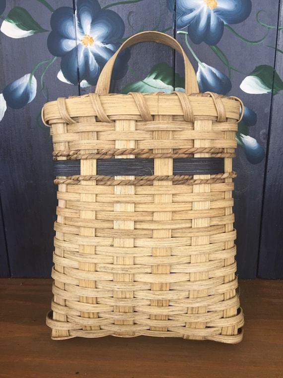 handmade basket mail basket wall basket flower by bouquetofbaskets. Black Bedroom Furniture Sets. Home Design Ideas