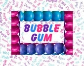Bubblegum Palette Custom Name Fabric Material for Applique, ITH, & Craft Projects. Various Sizes