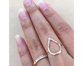 Teardrop Ring - Water Drop Ring