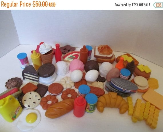 Play food 75 pieces vintage fisher price by cellardeals on - Cuisine bilingue fisher price ...