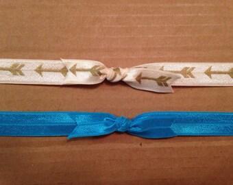 Baby girl tie knot elastic headband set