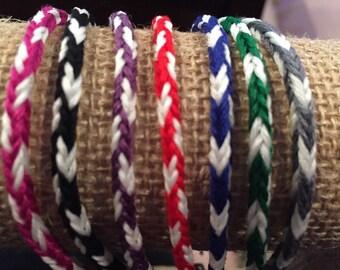 Lot of handmade Glow in the dark friendship bracelets