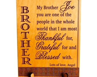 Valentine Gift for my Brother,Thanks Giving Gift,Custom Brother Birthday Gift,Personalized Brother Gift, Brother / Sister to Brother Gift.