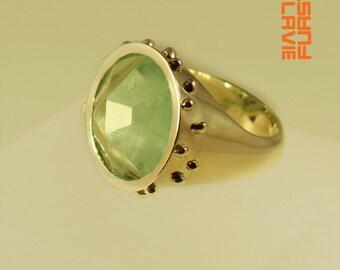 ring agrippa silver aquamarine