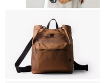 SALE 25.00 USD OFF Diaper bag backpack, Changing bag, Baby backpack diaper bag, Baby nappy bag, Brown canvas backpack, Unique diaper bags, U
