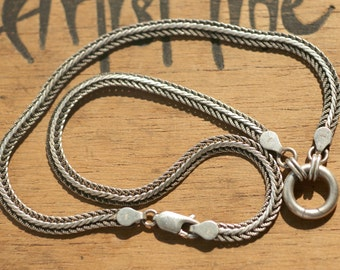 1950s vintage silver necklace, convertable to a bracelet, maker's mark GHA