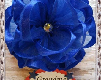 Royal Blue Grandma To Be Corsage Badge Or Any other Name Badge Baby Shower  Corsage