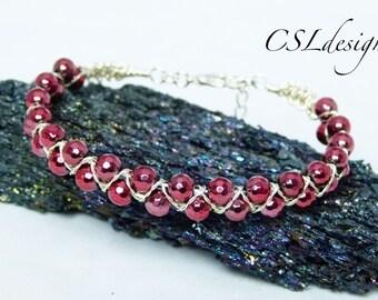 Goddess wirework macrame bracelet