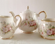 Beautiful Small 2 Cup Sadler/Windsor Teapot, Creamer & Sugar Tea Set