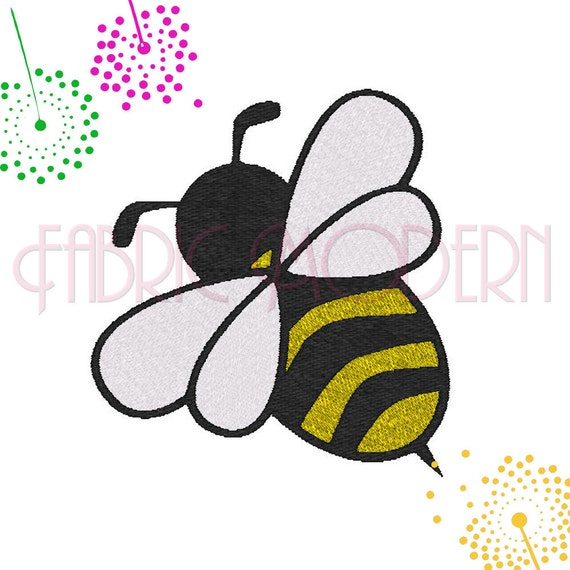 Machine embroidery design bumble bee eight sizes instant