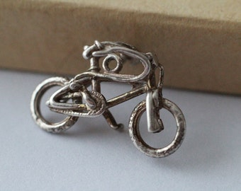 Silver charm Bicycle - Vintage - 835 hallmarked - in good vintage shape