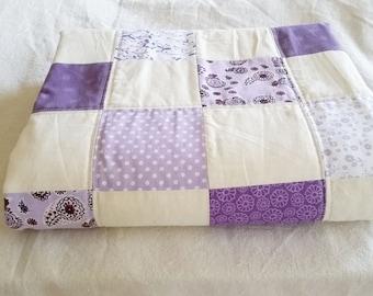 Checkered Purple Crib Quilt