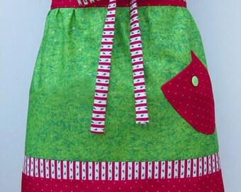 Christmas Half Apron Pattern