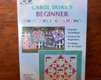 Paper Piecing Quilt Pattern With Piecing Paper by Carol Doaks