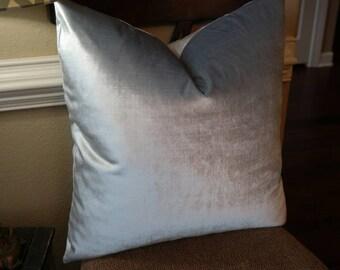 SALE // Designer Pillows // Velvet Pillow Cover // High End Pillow // Accent Pillow //  Choose Your Size // 0211633 Mist