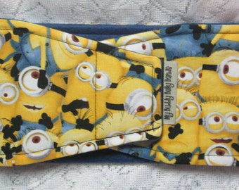Male Dog Belly Band - Made from Minion Fabric (#161)