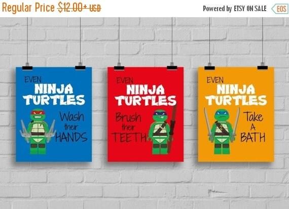 Spring Sale Ninja Turtles Bathroom Kids By SimplyLoveCreations