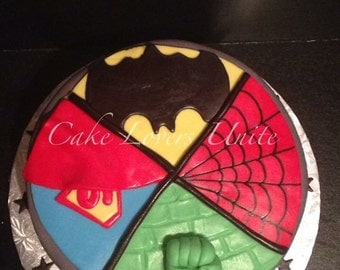 Superhero Inspired Cake Topper