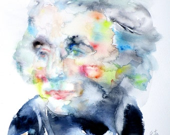 HORATIO NELSON  - original watercolor portrait - one of a kind!