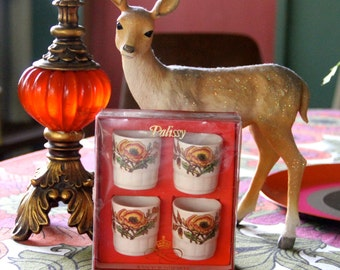 Vintage 1950s Palissy Royal Worcester Spode Egg Cup Set Original Box - Made in England