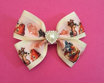 Lady and the Tramp hair bow
