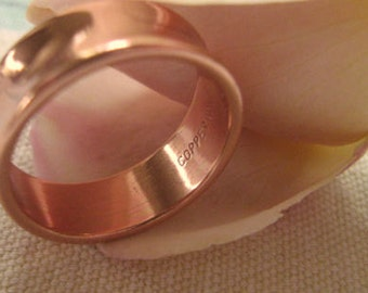 Copper Ring CR041- 1/4 of an inch wide. Size 5 thru 11