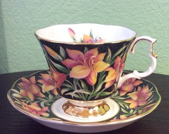 Rare Royal Albert Provincial Flowers Prairie Lily Tea Cup and Saucer