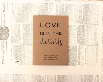 Humorous Oprah Valentine : Recycled Kraft Paper Card