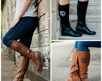 Brooklyn Monogrammed Boots - Originally 84.00