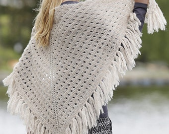 Knit shawl with fringes for women,knitted shawl,knit wrap,wedding shawl, made to order!
