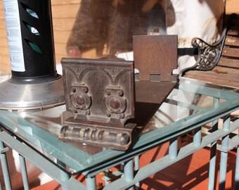 Unique vintage wooden book holder
