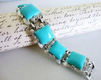 Coro Pegasus Faux Turquoise  Bracelet