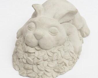 Happy Bunny RABBIT Statue Figure Cement HOME Garden Decor Very CUTE !!!!