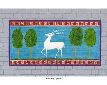 White Stag Tapestry