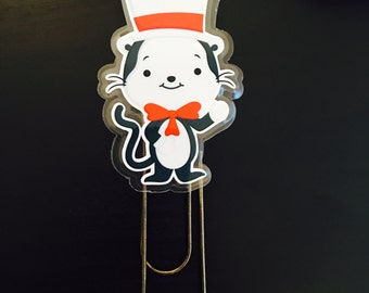 Planner Bookmark Kitty Wearing a Hat