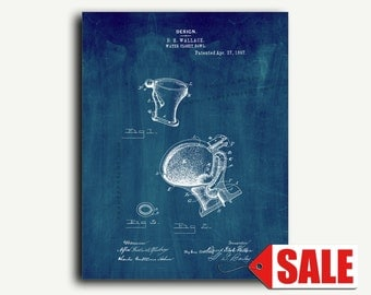 Patent Print - Toilet Bowl Patent Wall Art Poster