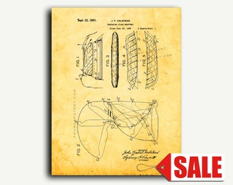 Patent Print - Preparing Cigar Wrappers Patent Wall Art Poster